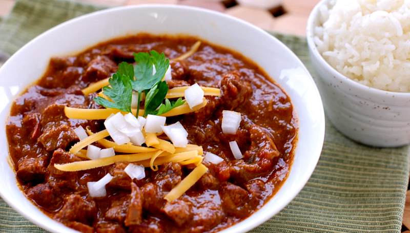 COOK AUTHENTIC CHILI CON CARNE LIKE TEXAN CHILI QUEEN