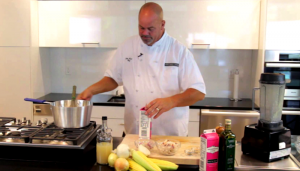 COOKING WITH CHEF JOHN HOWIE DUNGENESS CRAB AND SWEET CORN BISQUE