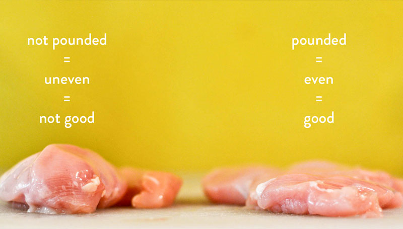 Pounding-chicken-breast-to-cook-evenly